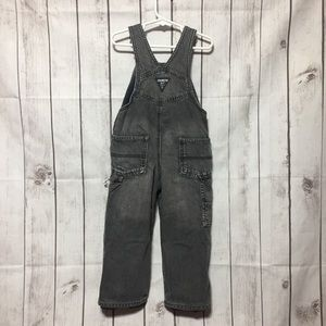 OshKosh B'gosh Bottoms - Oshkosh Overalls Boys 3T Fleece-Lined Vestbak Gray